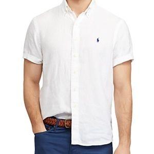 Ralph Lauren Short Sleeve Classic Fit Linen Shirt